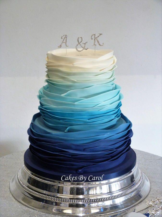 38 Elegant Blue Wedding Cake Ideas You Will Like Chicwedd
