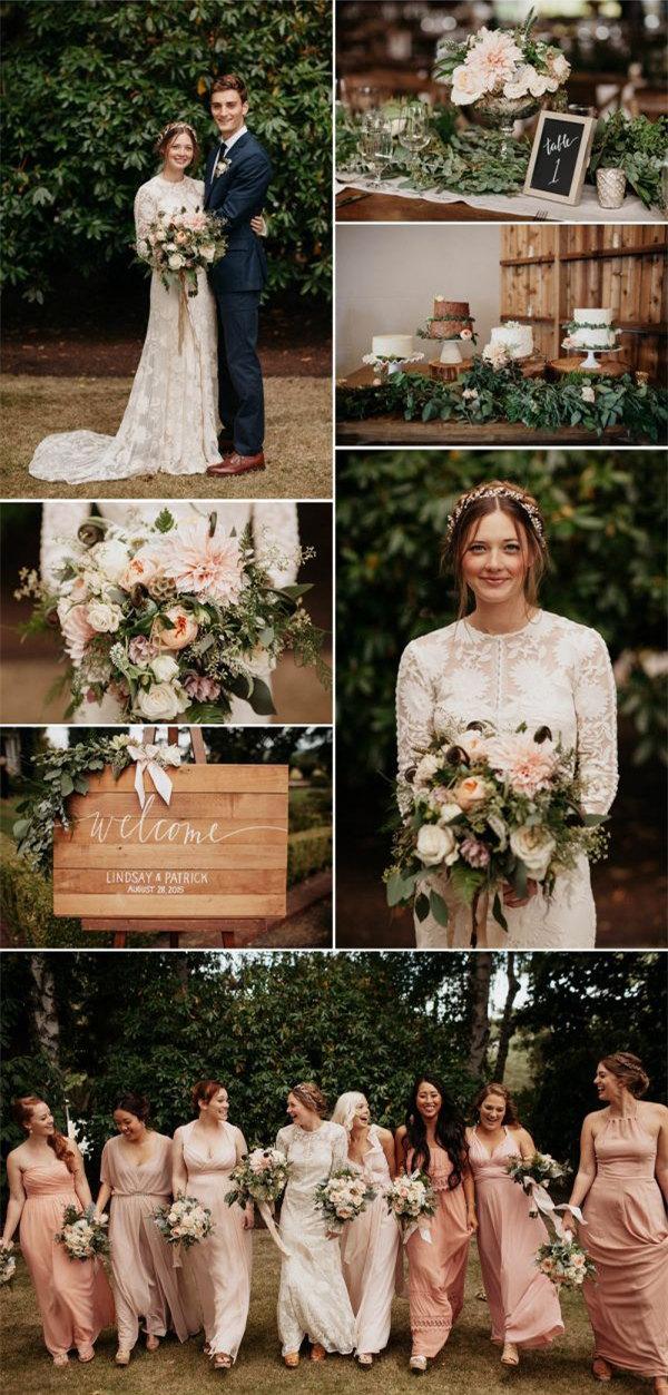 Blush wedding color ideas
