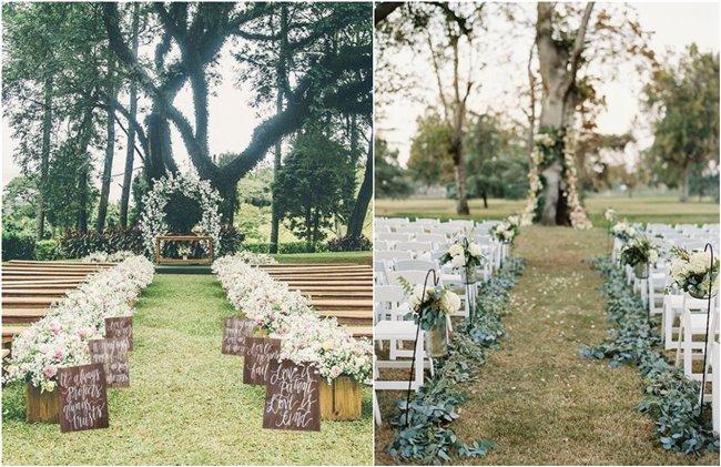 34 Stylish Outdoor Wedding Aisle Decor Ideas Chicwedd