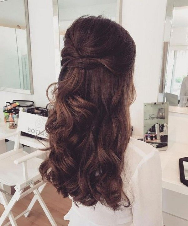 18 Creative And Unique Wedding Hairstyles For Long Hair: 25 Amazing Half Up Half Down Wedding Hairstyles