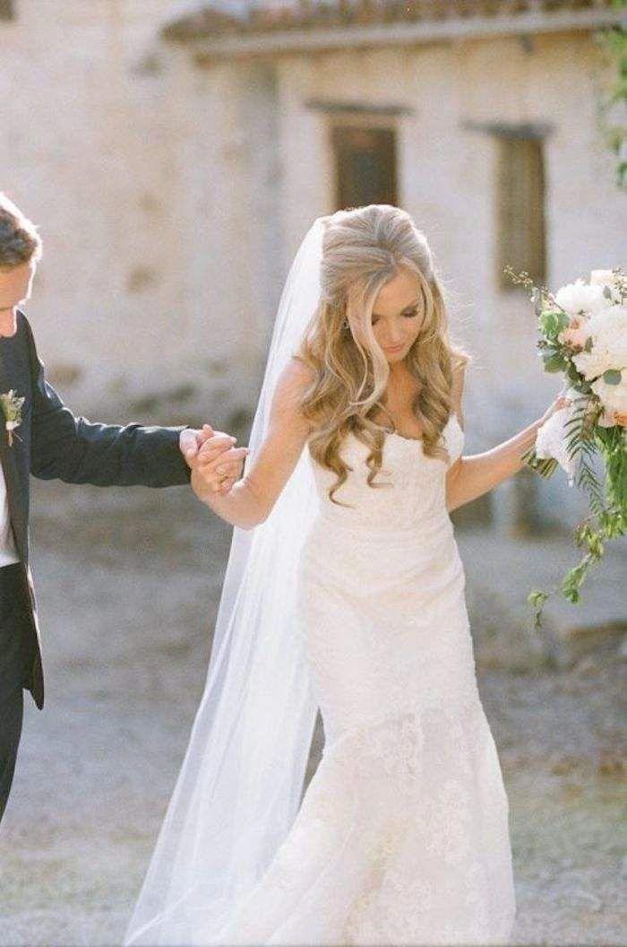 Erstaunlich halb hoch halb runter Hochzeitsfrisuren