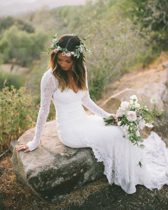 30 Beach Wedding Hairstyles Ideas Designs: 30+ Tempting Bohemian Wedding Dresses You Can't Say No To