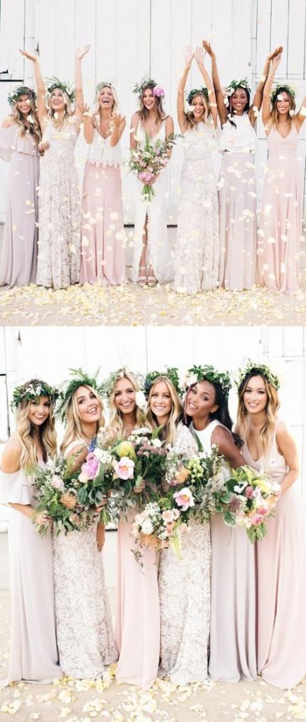 Romantic Bohemian Bridesmaid Dresses