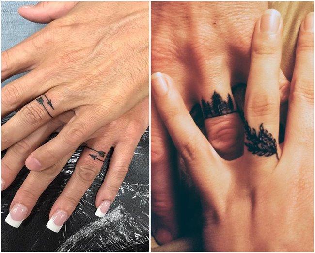 10 Creative Wedding Band Tattoo Ideas to Copy - ChicWedd