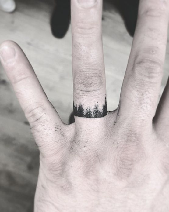 White Wedding Ring Tattoos: 35 Creative Wedding Band Tattoo Ideas To Copy