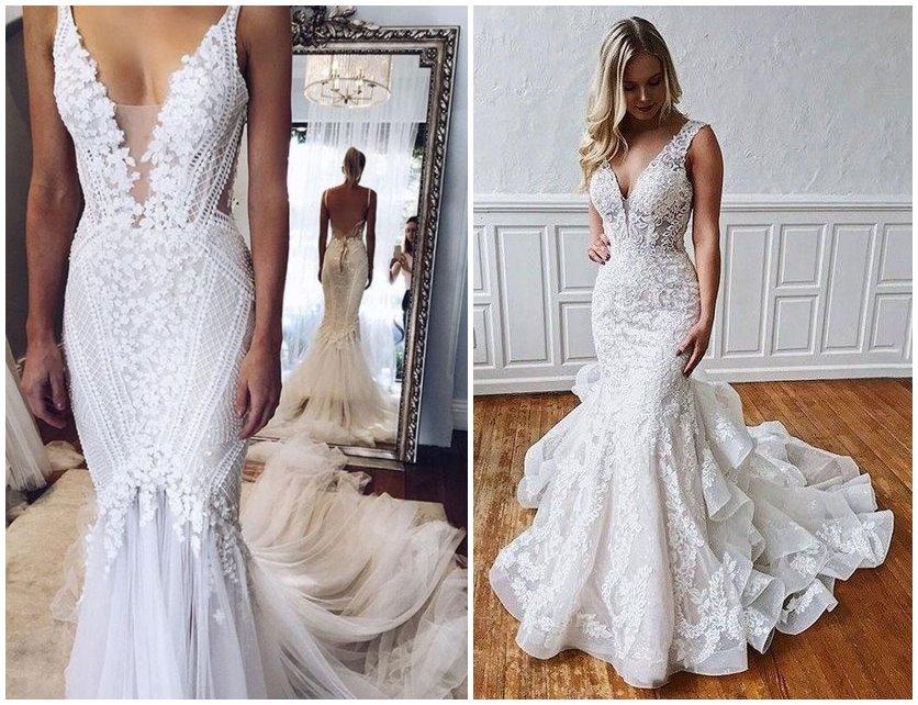 23 Stunning Mermaid Wedding Dresses To Shine Chicwedd