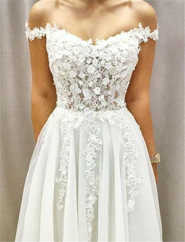 Off The Shoulder Wedding Dresses To Get Inspired