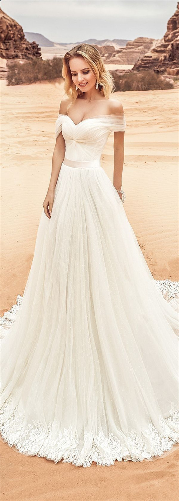 Off The Shoulder Wedding Dresses To Get Inspired