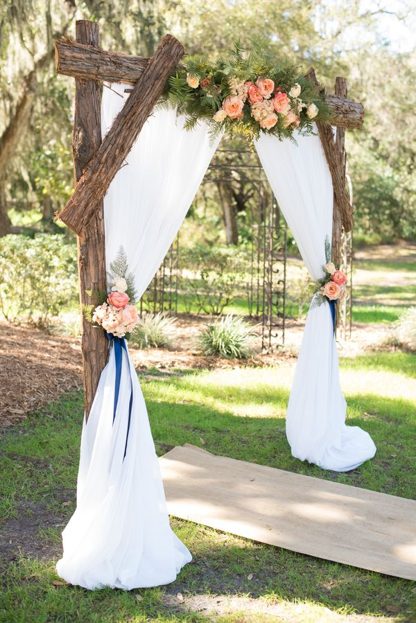 Non Traditional Altars For An Outdoor Wedding