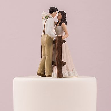 Custom Illustrated Wedding Cake Topper