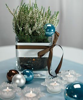 Diy Winter Wedding Candle Holders