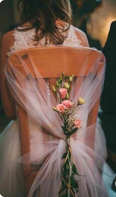 Impossibly Pretty Wedding Chair Decorations