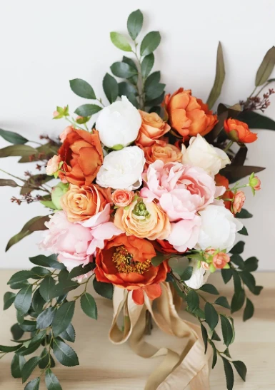 Orange And Pink Wedding