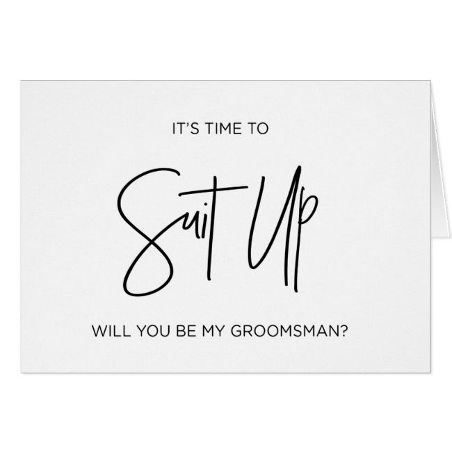 Ways to Ask Will You Be My Groomsman