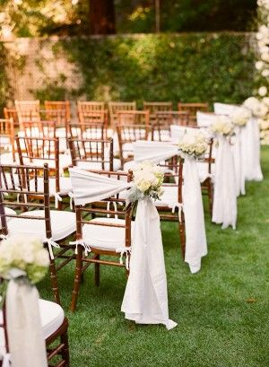 Wedding Chair Decor Ideas With Fabric And Ribbons