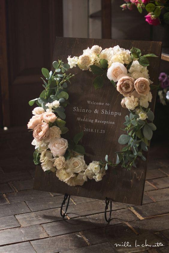 rustic wedding wreaths