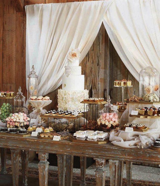 wedding dessert table setting