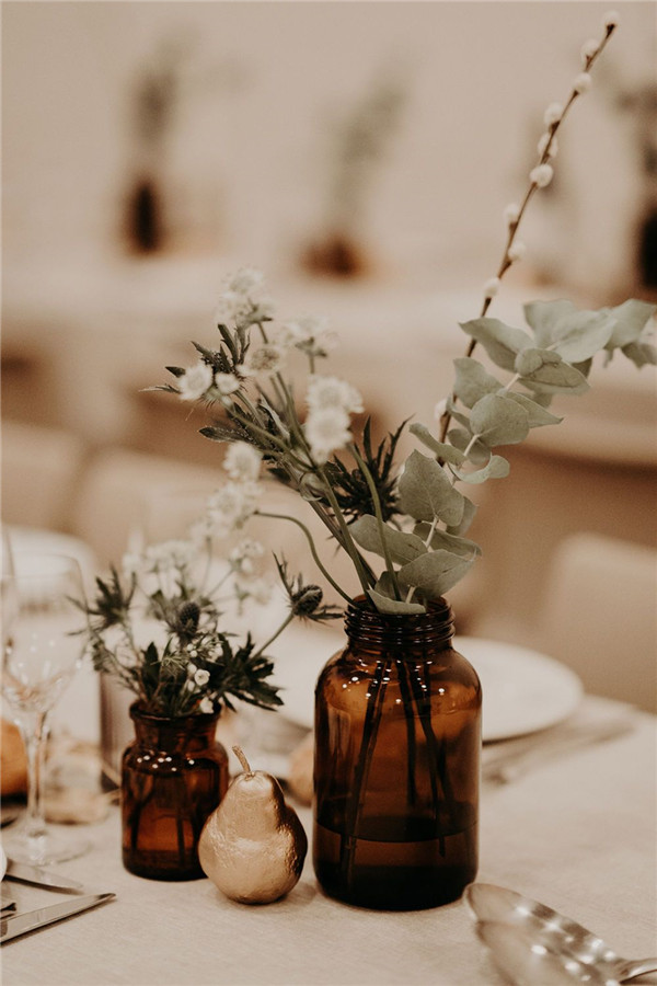 Boho Chic Wedding Table Decorations
