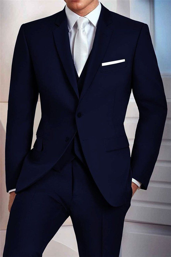 Navy Suits For Grooms