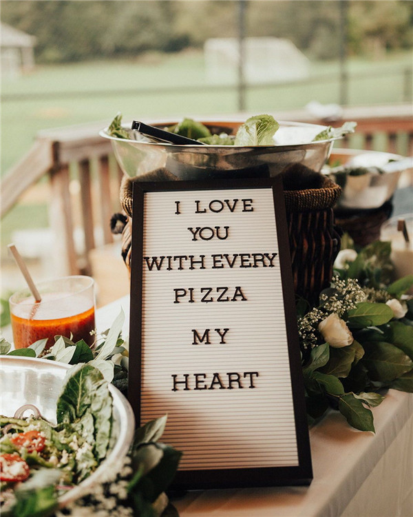 Pizza Food Bar At Your Wedding